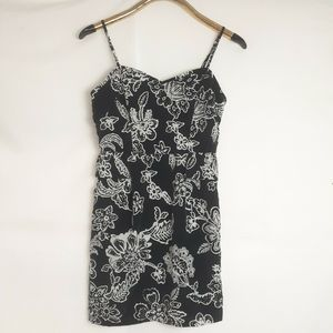 American Eagle Black Floral Spring ruffle Dress  4